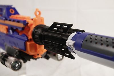 3D Printed - Viking Themed Nerf Barrel Extension for Nerf Silencer - Gun Blaster