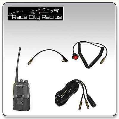 NASCAR RACE CAR Wire Harness for BAOFENG + Velcro Mount PTT ... on