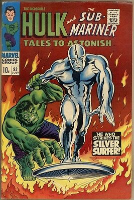 Tales To Astonish #93 - FN/VF - Silver Surfer Appears