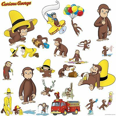 Curious George Peel and Stick Wall Decals