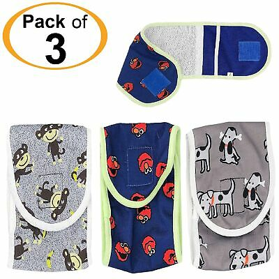 SET - 3pcs Diapers Male BELLY BAND Reusable Washable For SMALL Dogs Patterns #1