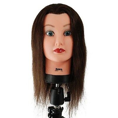 Debra Manikin Cosmetology Mannequin Head 100% Human Hair, Brown - SBS-427040 SAL