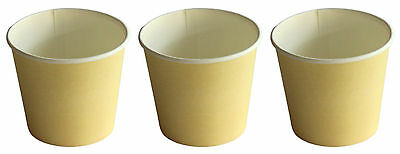 500 x 6oz TAN Single Wall Coffee Cups 177ml Paper Disposable Party Favors New