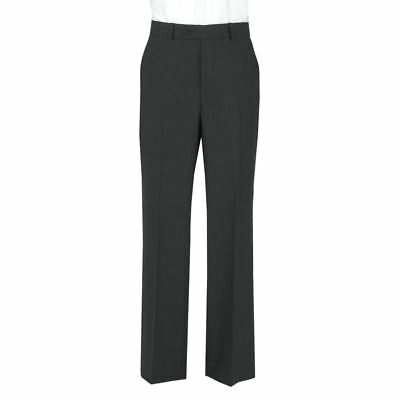 Men's Extra Tall Poly Viscose formal trousers Charcoal,Waist 30-50,L 33/34/35/36