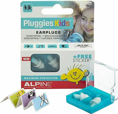 Alpine Pluggies Kids Ear Plugs to Protect Children's Hearing Free Stickers