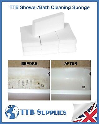 TTB Shower Bath Sink Tile Sponge Removes Soap Scum & Body Fat Mould Limescale x4