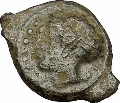 HIMERA in SICILY 415BC NYMPH & Success Wreath Genuine Ancient Greek Coin i51742