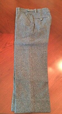 "Little Boy's Vintage Gray Italian 100% Wool Pants 22"" Waist 19"" Inseam 1950s VGC"