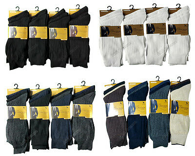3/6/12 Pairs Mens 100% Cotton Anti-Bacterial Socks 6-11 Lot New