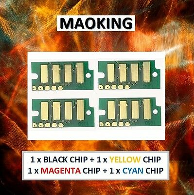 4 Toner Reset Chips Xerox Phaser 6000 6010 WorkCentre 6015 (N. America W.Europe)