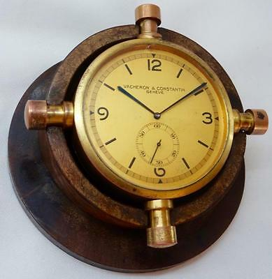 WOW! MUSEUM antique Vacheron&Constantin SHIP'S HELM Navy CHRONOMETER DECK CLOCK. • £11,666.34