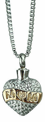Cremation Jewellery - Memorial Ash Urn Pendant - Mum - Engraving Available