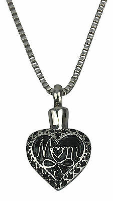 Cremation Jewellery - Ashes Urn Pendant - Mother Heart - Engraving Available