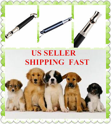 US 2 X Pet Dog Training Obedience Whistle Ultra Sonic Supersonic Sound Pitch