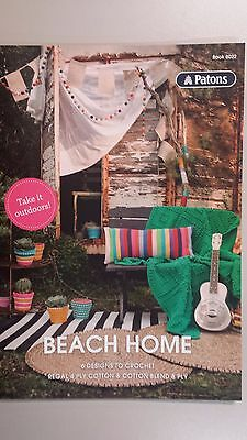 Patons Pattern Book #8022 Beach Home - 6 Designs to Crochet