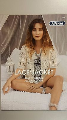 Patons Pattern Leaflet #0021 Ladies Lace Jacket to Crochet in Patons Regal 4 Ply