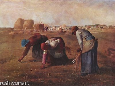Jean-Francois Millet  Gleaners Giclee Canvas Print
