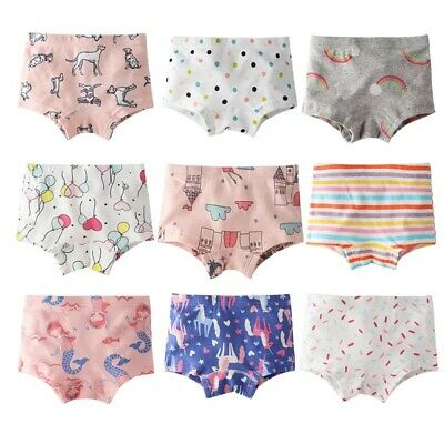9d3b040a6b 4 PCS LITTLE Girls Toddler Kids Cartoon Princess Underwear Boxers ...