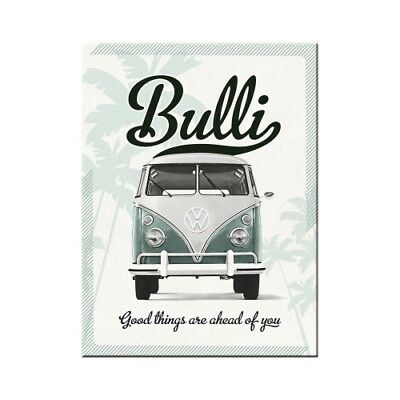 Nostalgic-Art - Magnet 8x6 cm - VW Bulli - Good things are ahead of you