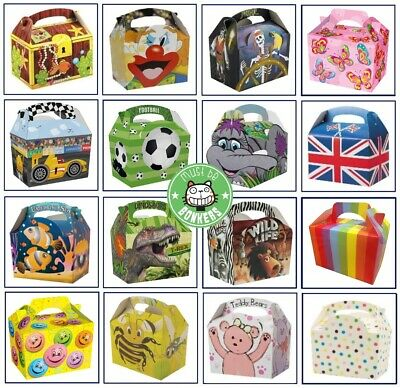 Birthday Party Food Boxes ~ Themed Meal Box Plate ~ Select Your Amount