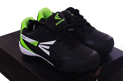 Boys Easton Black Neon Green Baseball Sports Cleats Shoes 13 1 2 3 4 5 Youth NEW