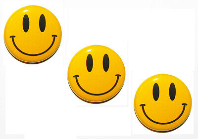 Set Of 3 Big Novelty Yellow Smiley Happy Face Fridge Magnets 5Cm Gift,Home Decor