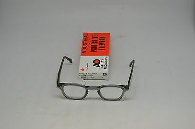 American Optical Grey Clear Safety Glasses 9846 Lens 46, Bridge 26. Steampunk