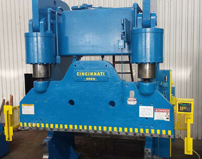 500 Ton Cincinnati Model 500H Hydraulic Press Brake, S/N 39191