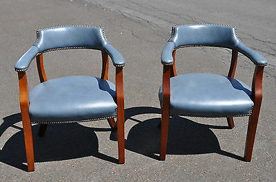 Pair Of Leather Armchairs Top Grain Leather