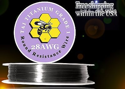 28ga 25ft Titanium Resistance Wire (Gr.1 99.5%) Heats 3x Faster/Lasts 2x Longer