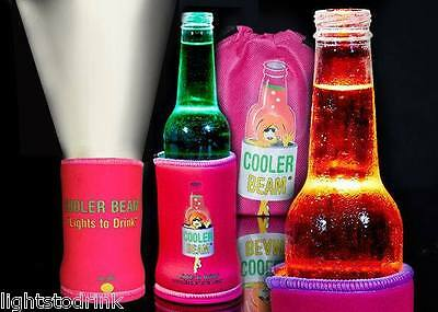 4 x Pack Pink Cooler Beam Stubby Cooler Torch's - Party's, Wedding, BBQ's & Fun