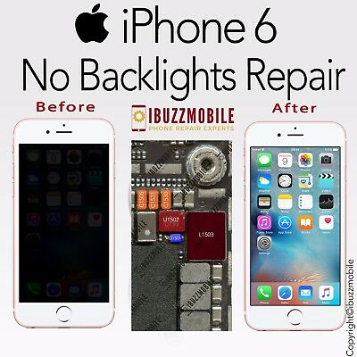 iPhone 6 NO BACKLIGHT  REPAIR SERVICE IC U1502 FIX FILTER L1503 DIODE D1501 COIL