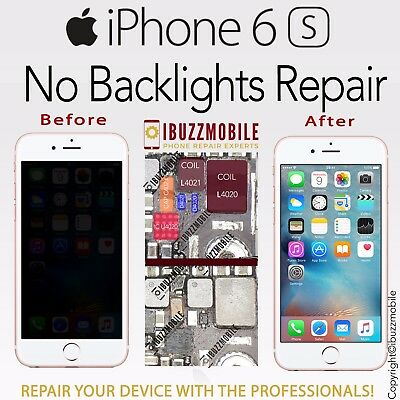 iPhone 6S NO BACKLIGHT REPAIR SERVICE IC U4020 FIX FILTER L4020 DIODE D4020 COIL