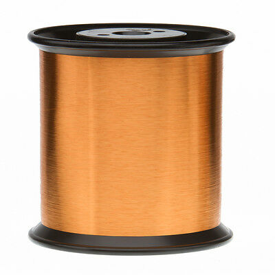 "43 AWG Gauge Heavy Formvar Copper Magnet Wire 4.08lbs 0.0026"" 105C Amber MW-15-C"