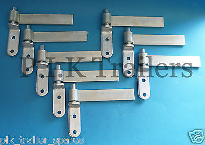 """8 x 6"""" Zinc Plated Tailgate Drop side Hinge and Gudgeon Pin set"""