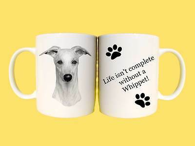 Whippet Pet Dogs Ceramic Mug Gift with choice of 6 captions