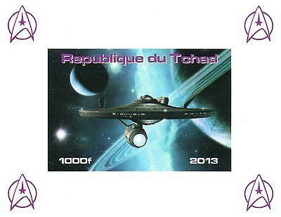Chad Stamps 2013 Star Trek imperforate miniature sheet / MNH