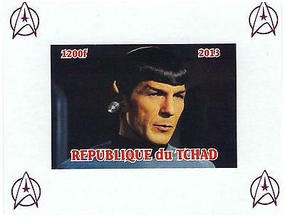 Chad Stamps 2013 Mr Spock Star Trek Space imperforate sheet / MNH