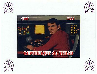 Chad Stamps 2013 Scotty Star Trek Space imperforate sheet / MNH