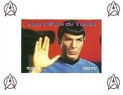 Chad Stamps 2013 Imperforate Star Trek sheet with Spock / MNH