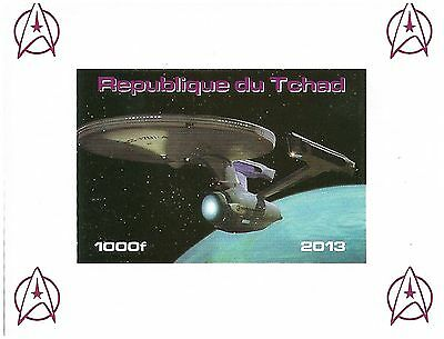 Imperforate Star Trek sheet with The Enterprise / MNH Stamps 2013