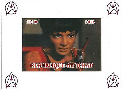 Chad Stamps 2013 Imperforate Star Trek sheet with Uhura / MNH