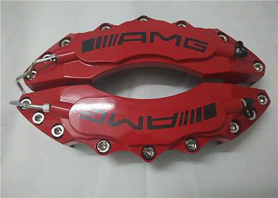 """Engineering Plastic Red AMG Brake Caliper Covers 11"""" Front for Universal Car"""