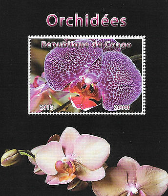 Congo Stamps 2015 Orchids Flowers and Flora / MNH