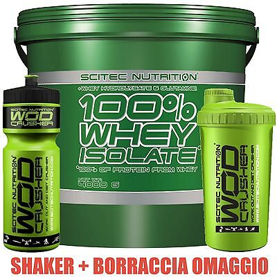 Scitec Nutrition Proteine Whey isolate idrolizzate 4Kg - 4000g + Shaker Bcaa