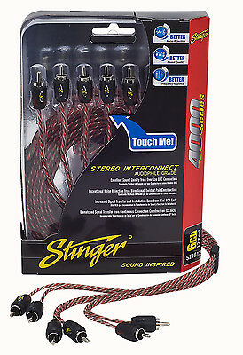 Brand New Stinger 20 Feet 4000 Series 6-Channel RCA Interconnect Cable 6-Channel