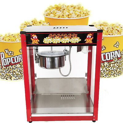 1370W 8oz Kettle Stainless Steel Popcorn Popper Maker Machine Commercial