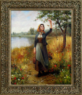 Daniel Ridgway Knight Brittany Girl Oil Painting repro