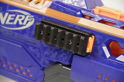 3D Printed - Nerf to Picatinny Rail for Dart Gun Blaster Rapidstrike ++
