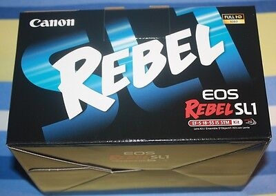 "NEW Canon EOS Rebel SL1 DSLR w/ EF-S 18-55mm IS STM Lens 18MP 3"" Touchscreen LCD"